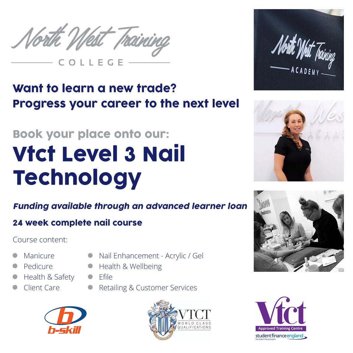 VTCT Level 3 Advert B-Skill Nails